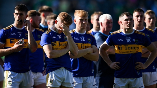Tipperary players watched Limerick collect the Mick Mackey Cup after a 18-point second-half swing