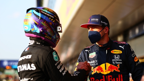 Hamilton(l) and Verstappen are vying for the 2021 title