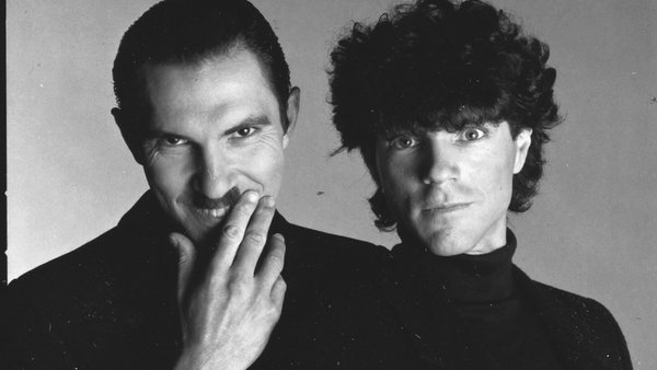 The brothers grin: Ron Mael and Russell Mael