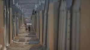 Children at a refugee camp in Idlib, Syria