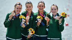 Aifric Keogh, Eimear Lambe, Fiona Murtagh and Emily Hegarty with their bronze medals