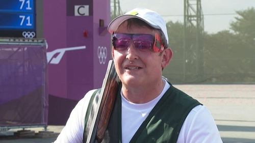 51-year-old Derek Burnett is competing in his fifth Olympics