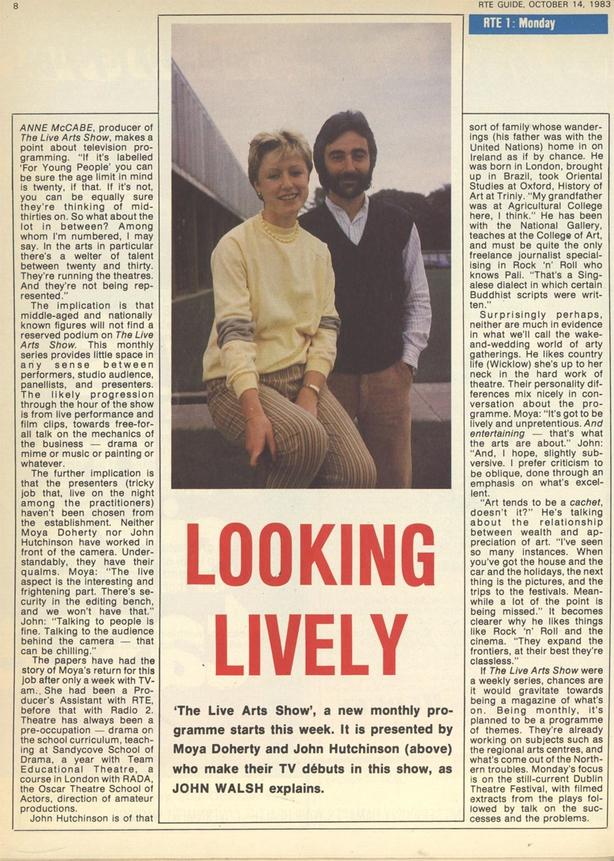 Live Arts Show, RTÉ Guide, 14 October 1983