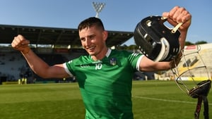 Gearoid Hegarty celebrates the Munster final victory over Tipperary