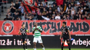 Celtic's Ismaila Soro reacts during the game