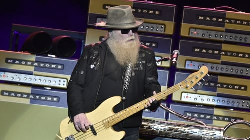 Dusty Hill onstage in San Jose, California in January 2019