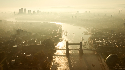 Aerial view of London (File photo)