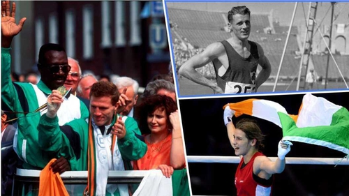 Clockwise from left: Michael Carruth, Bob Tisdall and Katie Taylor