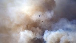 Crews battle fire in the Aydincik and Bozyazi districts of Turkey's Mersin