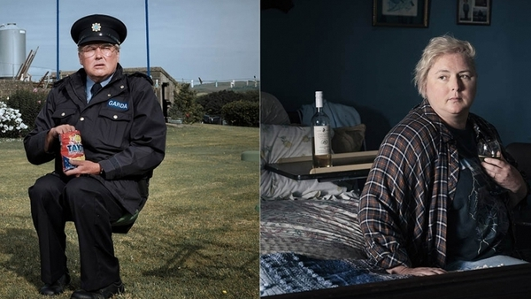 Conleth Hill as Sergeant PJ Collins and Siobhán McSweeney as Bríd Riordan in Holding Photos: Conor Horgan/ITV
