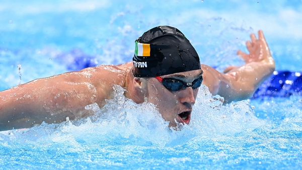 Shane Ryan ended his Olympics on a positive note