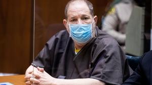Harvey Weinstein pictured in court today
