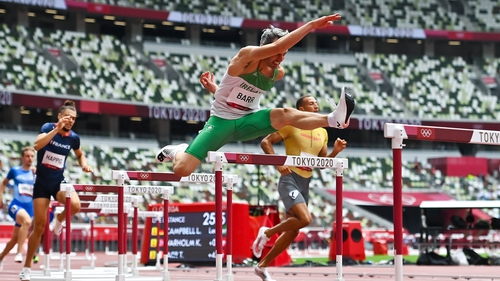 Thomas Barr impressed in his 400m hurdles heat