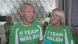 Damian and Martine Walsh after witnessing their son secure an Olympic medal