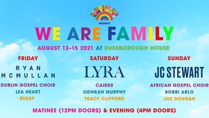 We Are Family taking place at Russborough House on August 13 - 15