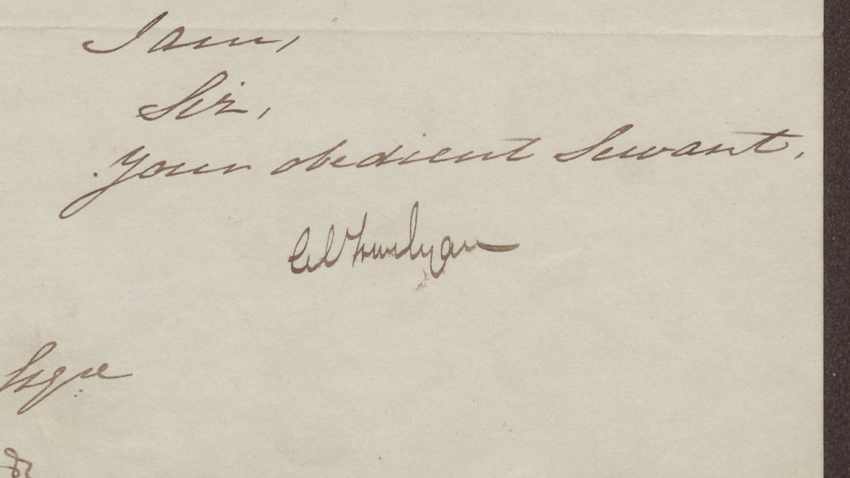 Trevelyan's signature