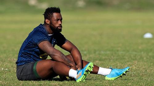 Captain Siya Kolisi at training during the week