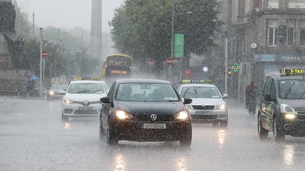Heavy rain fell in Dublin in July