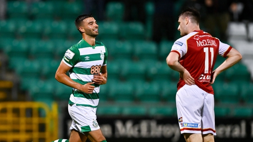 Shamrock Rovers have a lead on St Patrick's Athletic, purely based on results so far in their games this season
