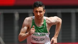 Mark English was fourth in a scrappy 800m heat