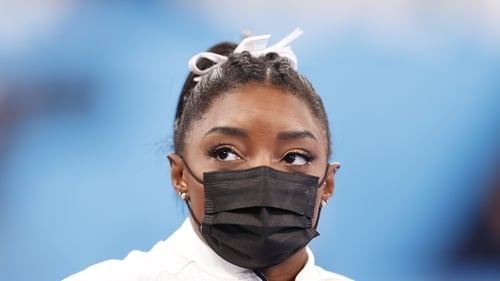 Simone Biles could still compete in the finals for floor exercise and balance beam