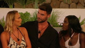 All eyes on Sunday's episode - (L-R) Millie, Liam and Kaz