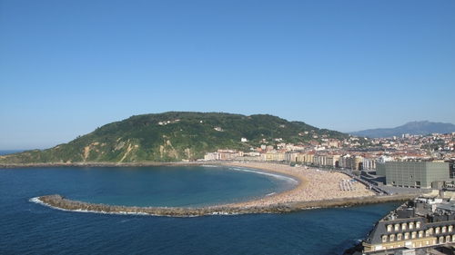 The man's body was recovered from the sea in San Sebastian yesterday morning (File pic)