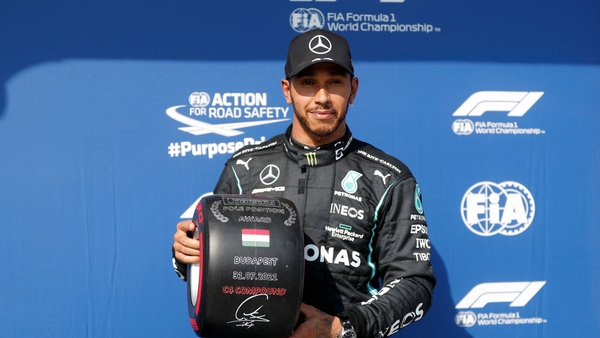 Hamilton recorded his eighth Hungaroring pole