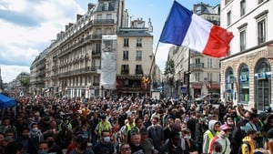 Police estimated some 13,500 people demonstrated on the streets of Paris