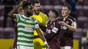 Hearts celebrate the opening-night win