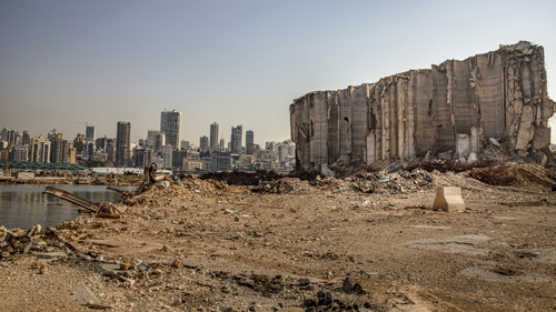 The destroyed grain silo has become a symbol of the damage caused by the blast in Beirut port