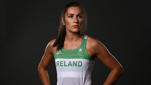 Phil Healy is in 200m action