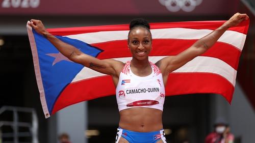 Jasmine Camacho-Quinn, who won the 100m hurdles, has an Irish coach, John Coghlan