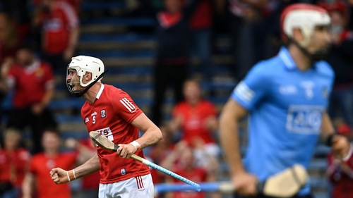 Cork's Tim O'Mahony a goal during the All-Ireland quarter-final clash with Dublin