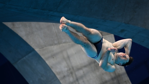Dingley in action during the preliminary round of the men's 3m springboard