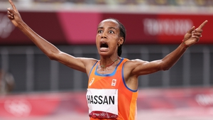 Sifan Hassan sped away from the leading pack in the last lap