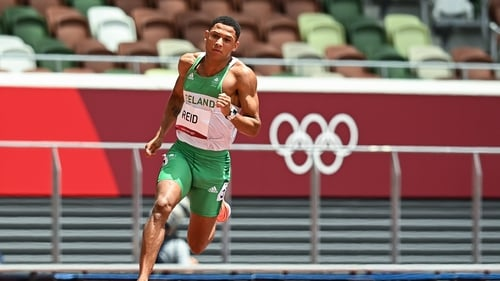 Leon Reid posted a season's best in the heats of the 200 metres