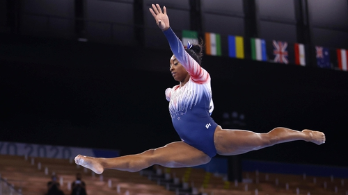 Simone Biles secured bronze on return to action
