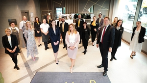 General Manager, Hazel Galloway and team at the Maldron Hotel Glasgow City