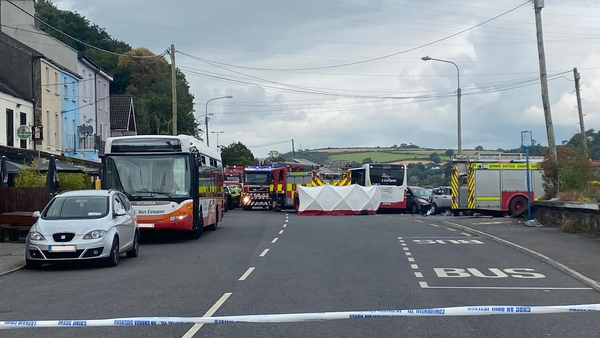The bus was heading towards Cork city when the collision occurred