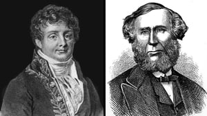 French scientist Joseph Fourier (left) is seen as the first person to speculate about the greenhouse effect, while Irish physicist John Tyndall also researched in the area