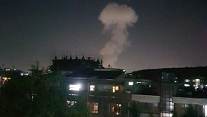 A senior security official said the blast appeared to have been caused by a car bomb