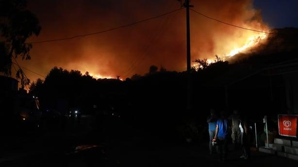 Forest fire Mugla Turkey