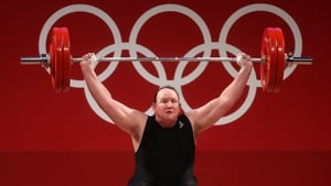 Laurel Hubbard contested the +87kg category weightlifting but failed to complete a single lift