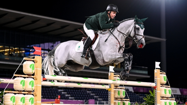 Cian O'Connor riding Kilkenny was seventh, but the horse has picked up an injury which means they will not compete in the team event on Friday