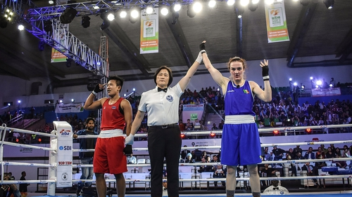Kellie Harrington beat Thailand's Sudaporn Seesondee in the 2018 World Championships