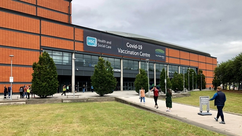 Vaccination centre at SSE Arena in Belfast