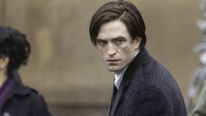 Robert Pattinson pictured filming The Batman in October 2020