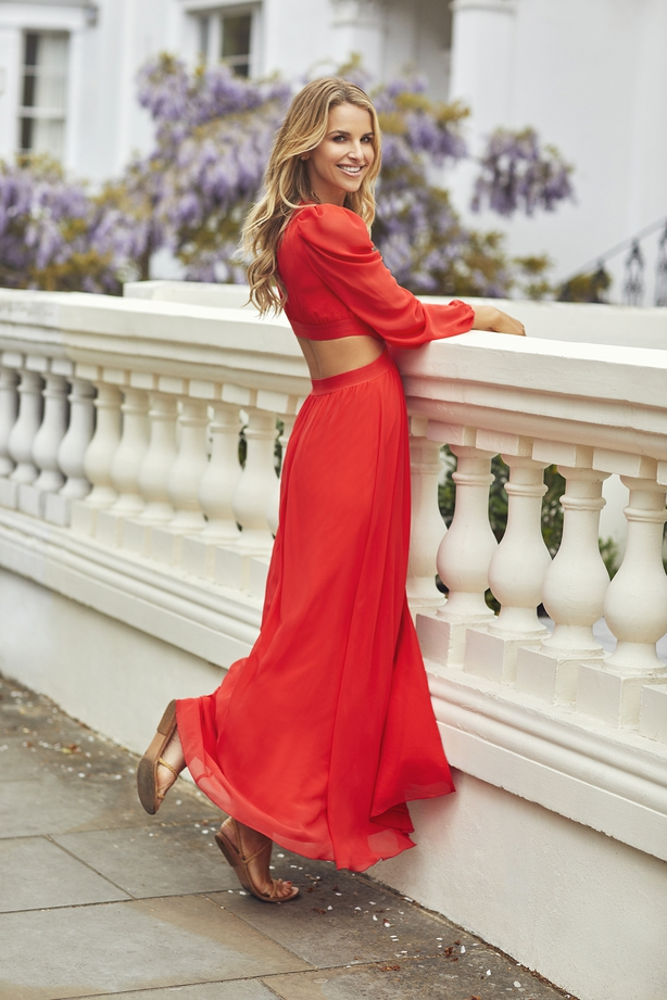 Little Mistress by Vogue Williams Red Cut Out Maxi Dress