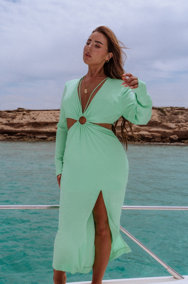 Misspap X Miss Joslin Cut Out Maxi Dress